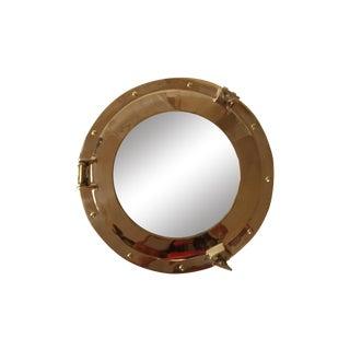 Large Brass Porthole Mirror