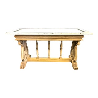 Italian Renaissance Revival Trestle Table, 19th Century