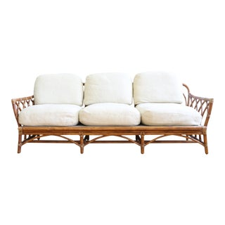 Vintage McGuire Cathedral Back Sofa