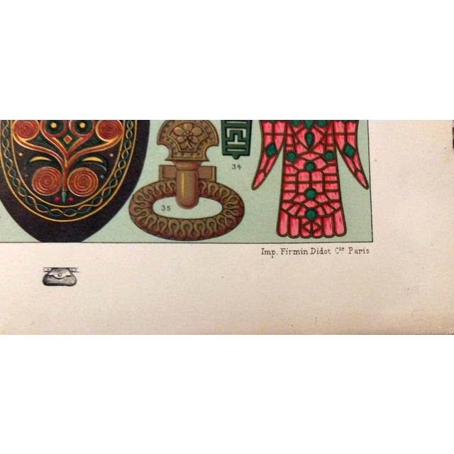 1888 Ancient Gaul Adornment Lithograph - Image 3 of 6