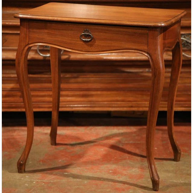 19th century french louis xv carved walnut side table for Table th width ignored