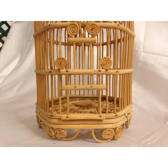 Vintage Bamboo Bird Cage - Image 5 of 6