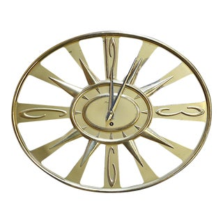 Vintage Mid 20th C. Wall Clock With Key