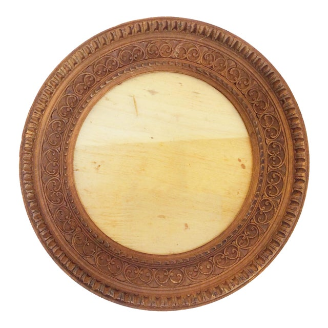 Image of Carved Round Wooden Frame