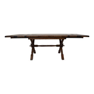 Campaign Style Tressel X Base Farm Table