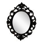 Image of Black Lacquer Wall Mirror