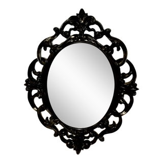 Black Lacquer Wall Mirror