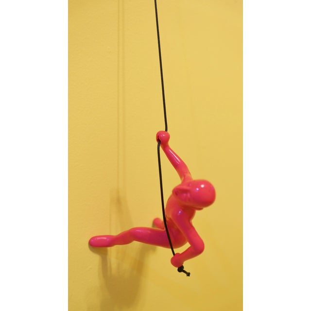 Pink Climbing Man Wall Art - Image 3 of 6