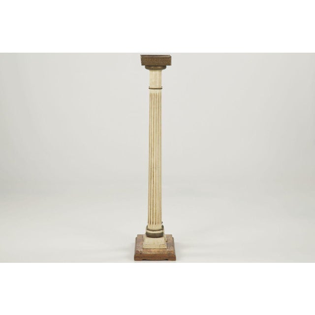 Image of Vintage French Louis XVI Style Marble Top Twin Column Pedestal