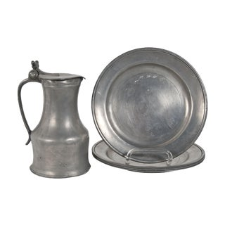 Old English Pewter Plates - 4
