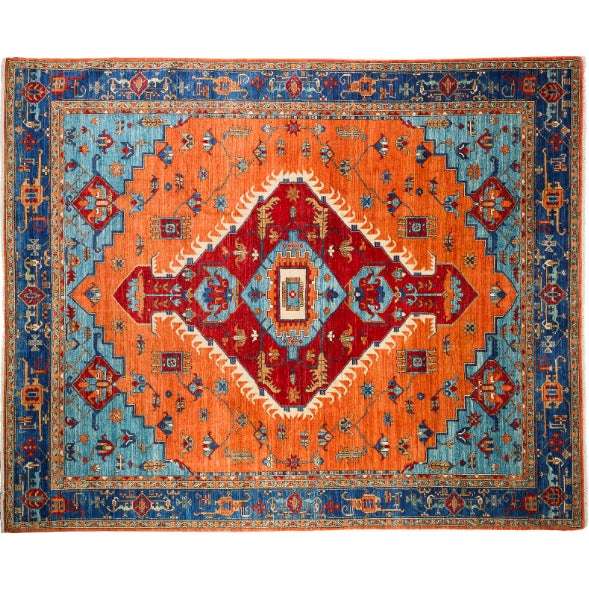 Persian Hand-Knotted Blue Rug - 8' x 11' - Image 1 of 2
