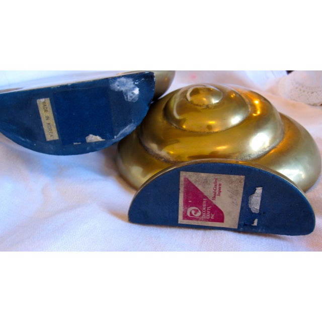 Brass Shell Bookends - Image 8 of 8