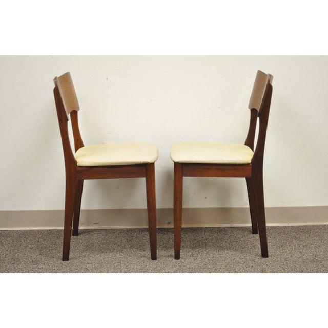 Gustav Bahus Norway Mid Century Danish Modern Teak Ribbon Dining Chairs - Set of 4 - Image 10 of 11