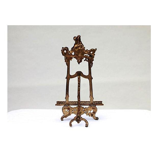Art Nouveau Cast Brass Easel - Image 5 of 5