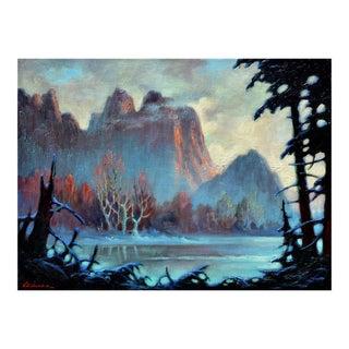 'Mountain Lake' Original Painting