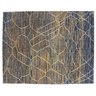 "Contemporary Moroccan Style Area Rug - 10'4"" x 13'"