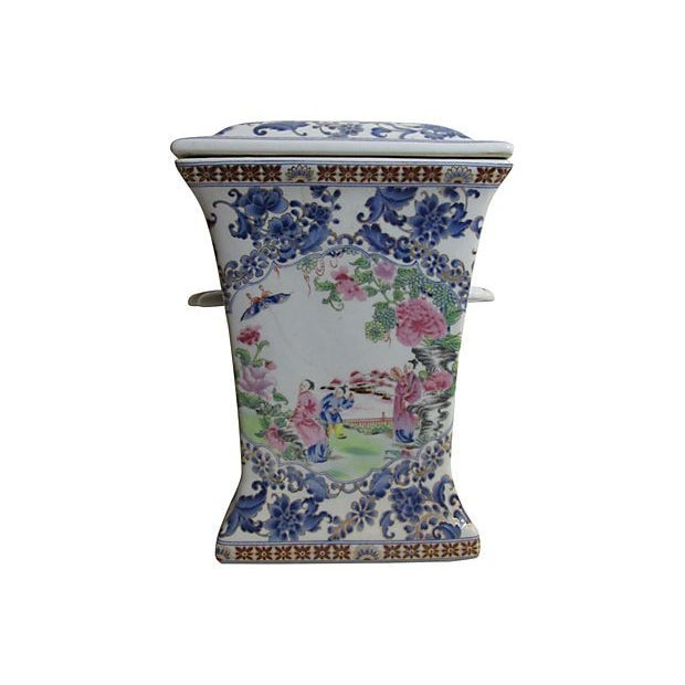 Hand-Painted Chinese Vase - Image 1 of 3