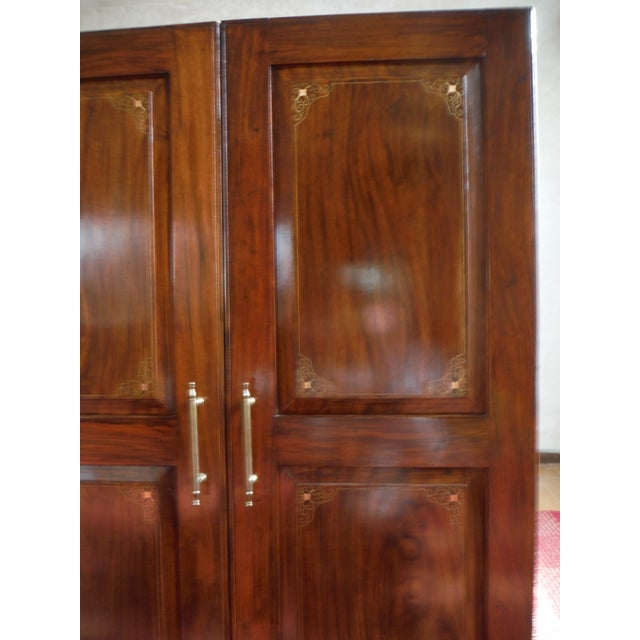 Indian Iron Wood CD/DVD Armoire - Image 9 of 10