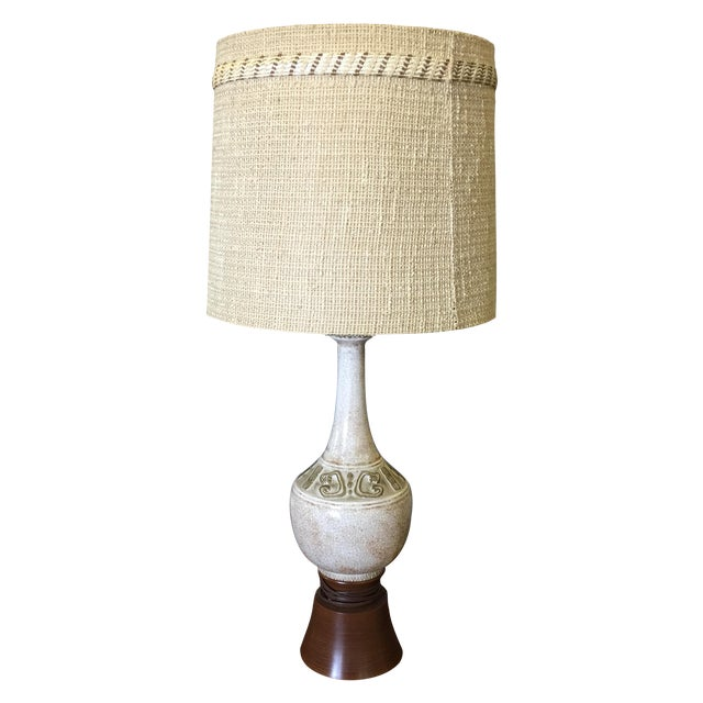 Mid-Century Ceramic Table Lamp - Image 1 of 6