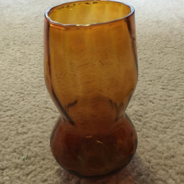 Amber Vase & Candy Dish - Image 3 of 7
