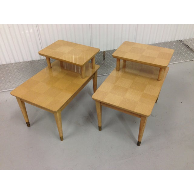 Mid-Century Modern Two-Tiered End Tables - A Pair - Image 6 of 6