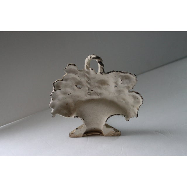 Antique Cast Iron Floral Doorstop - Image 3 of 6