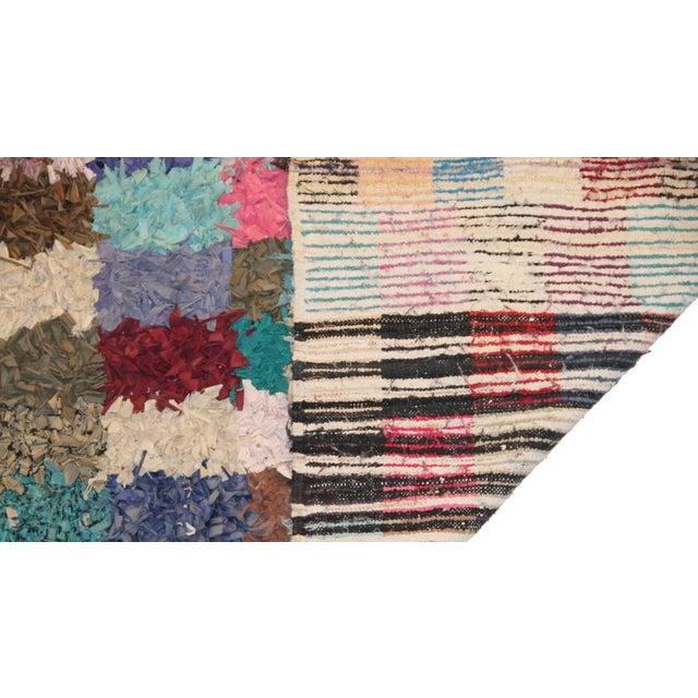 """Vintage Boucherouite Rag Rug - 7'4"""" X 3'5"""" - Image 3 of 3"""