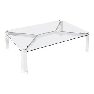 Vintage Georges Frydman Chromed Steel Coffee Table