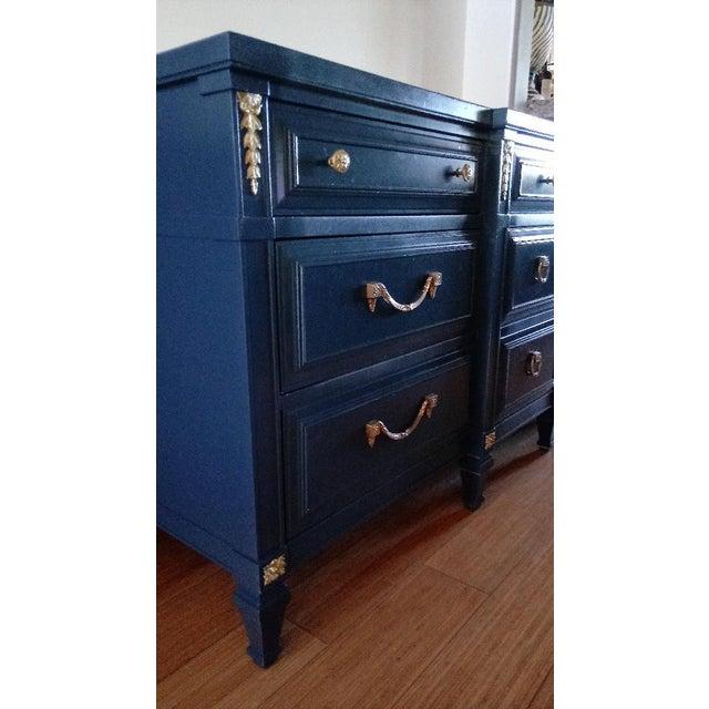 Drexel San Remo High Gloss Blue Nine Drawer Dresser Credenza - Image 3 of 7