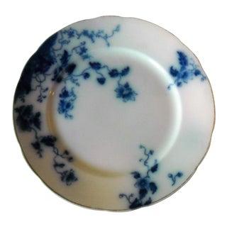 Antique Flow Blue Salad Plate Duchess Pattern