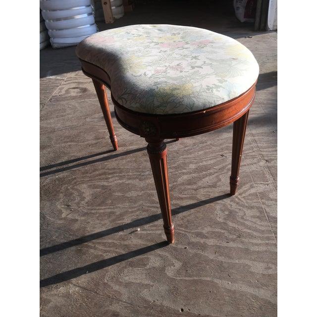 Antique Walnut Kidney Shaped Vanity Bench - Image 8 of 8