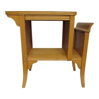 Vintage Mid Century Blonde Wood End Table
