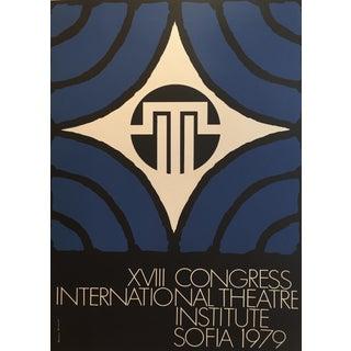 Graphic Original 1979 International Theatre Institute Poster