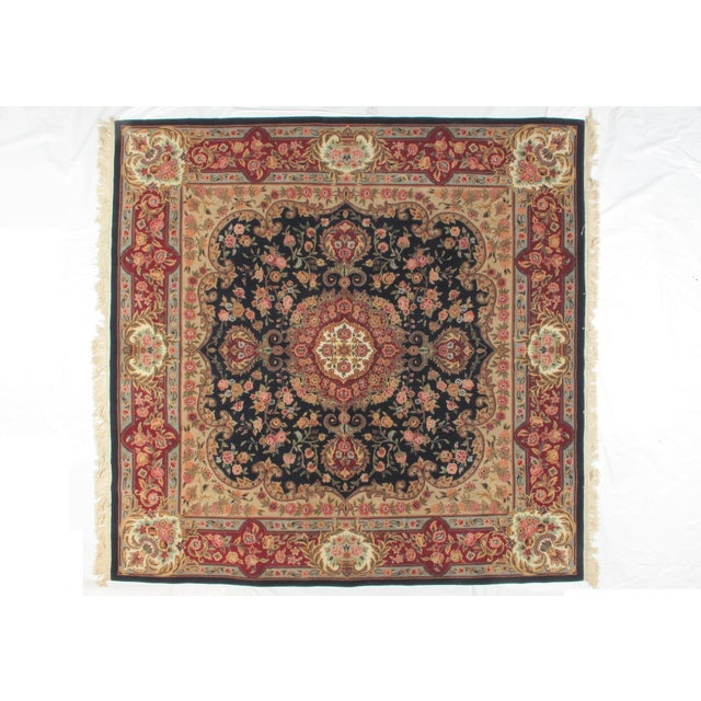 Square Sino Persian Carpet - 8′ × 8′1″ - Image 2 of 8
