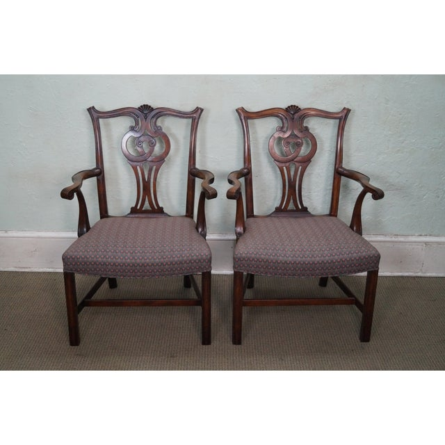 Mahogany Chippendale Armchairs - A Pair - Image 2 of 10