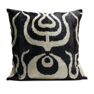 Large Ottoman Silk Velvet Pillow