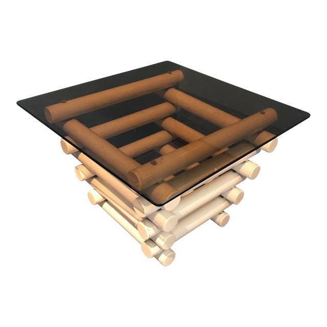 White Tubular Metal Side Table - Image 1 of 7