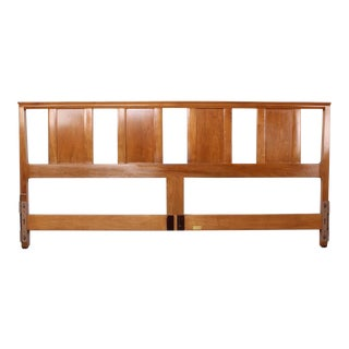 Bleached Mahogany Headboard by Edward Wormley for Dunbar