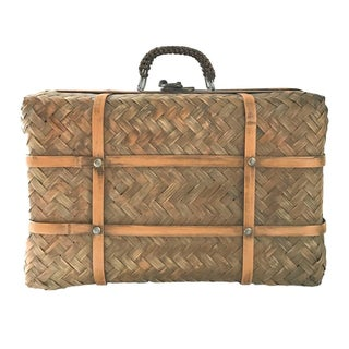 Rattan Basket Trunk with Handle