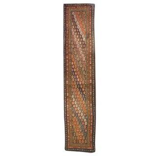 "Early 20th Century Kurdish Carpet Runner - 3'5"" x 16'6"""