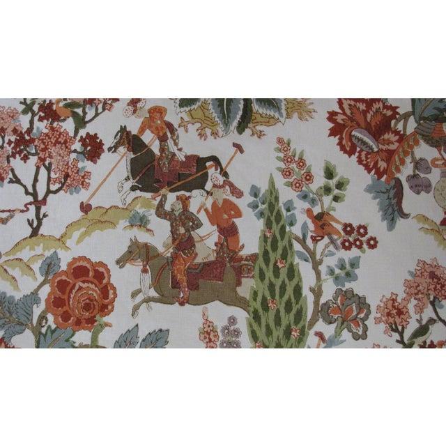 """Persian Lancers"" Schumacher Linen Fabric - 1 Yard - Image 4 of 4"