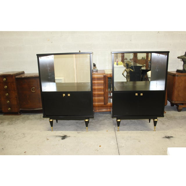 French Art Deco Sideboard Display Cabinets - A Pair Circa 1940s - Image 12 of 12