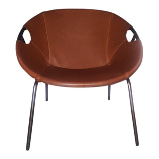 West Elm Dries Leather Sling Chair
