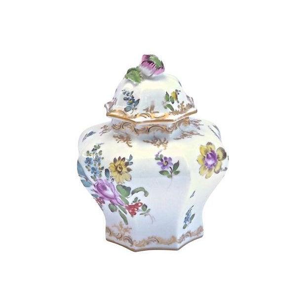 Antique Meissen Floral Lidded Jar - Image 7 of 7