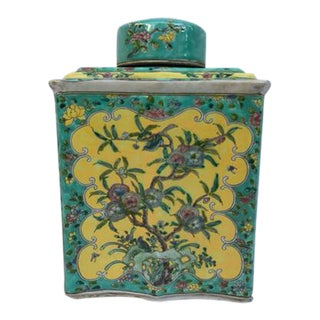 Chinoiserie Hand Painted Ginger Jar