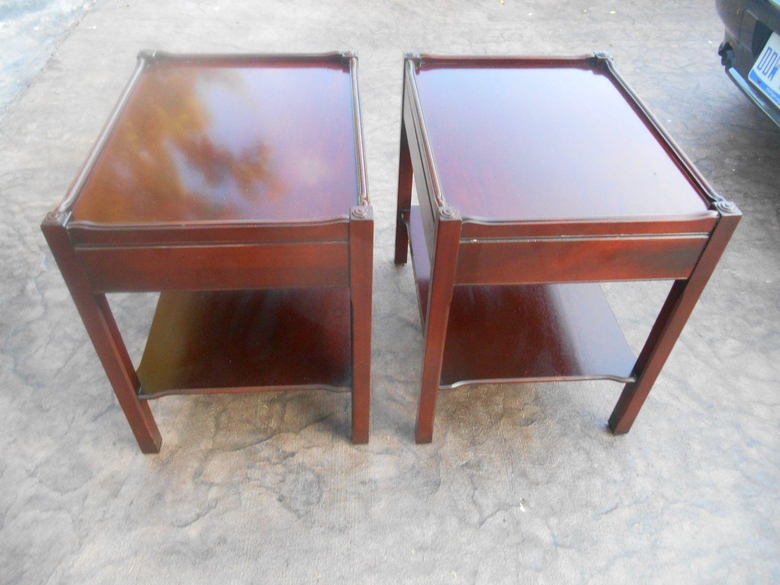 Captivating Hickory Chair Co. James River Two Tier End Tables   A Pair   Image