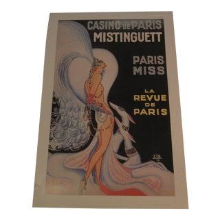 Vintage Paris Show Lithograph Print