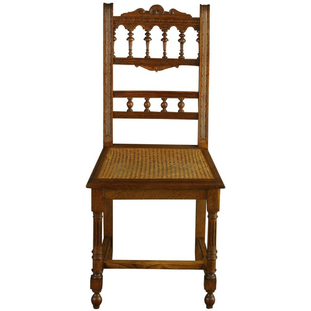 Image of Antique French Renaissance Henry II Oak Chairs - 8