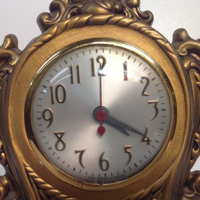 Cherub Ceramic Lanshire Mantle Clock Holland Mold - Image 3 of 10