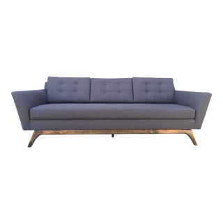 Flared Custom Mid-Century Sofa
